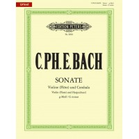 C.P.E. Bach:- Sonata in G minor for Violin (Flute) and Piano with CD