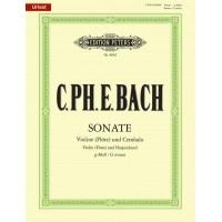 C.P.E. Bach:- Sonata in G minor for Violin (Flute) and Piano with CD