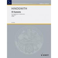 Hindemith:- 8 Kanons Op. 45, No. 2 Choir (MezMez) with Instruments (Strings) Partitur (Score)
