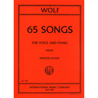 Wolf:- 65 Songs for High Voice