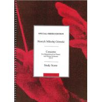 Gorecki: Concerto For Harpsichord (or Piano) & String Orchestra (Full Score)