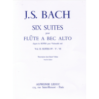 J.S. Bach:- 6 Suites Vol.2, Nos.4-6 for Alto Recorder