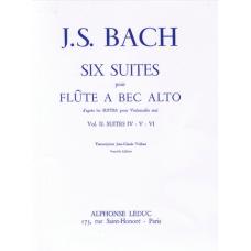 J.S. Bach:- 6 Suites Vol.2, Nos.4-6 for Alto Recorder