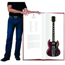 """18"""" 闊 x 41"""" 高 對照實物大小的名結他相簿  The FoxyLady Project. The Lifesize Guitar"""