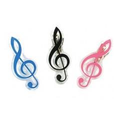 高音譜號譜夾  (粉紅 / 綠 /  黑 / 藍 / 銀)
