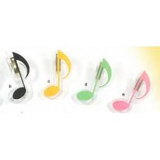 8分音符 單夾  (粉紅 / 綠 / 黃 /  黑 / 藍)